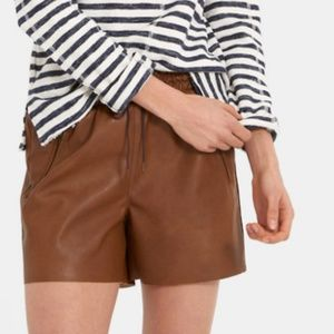 Cotes faux suede brown shorts NWT size S